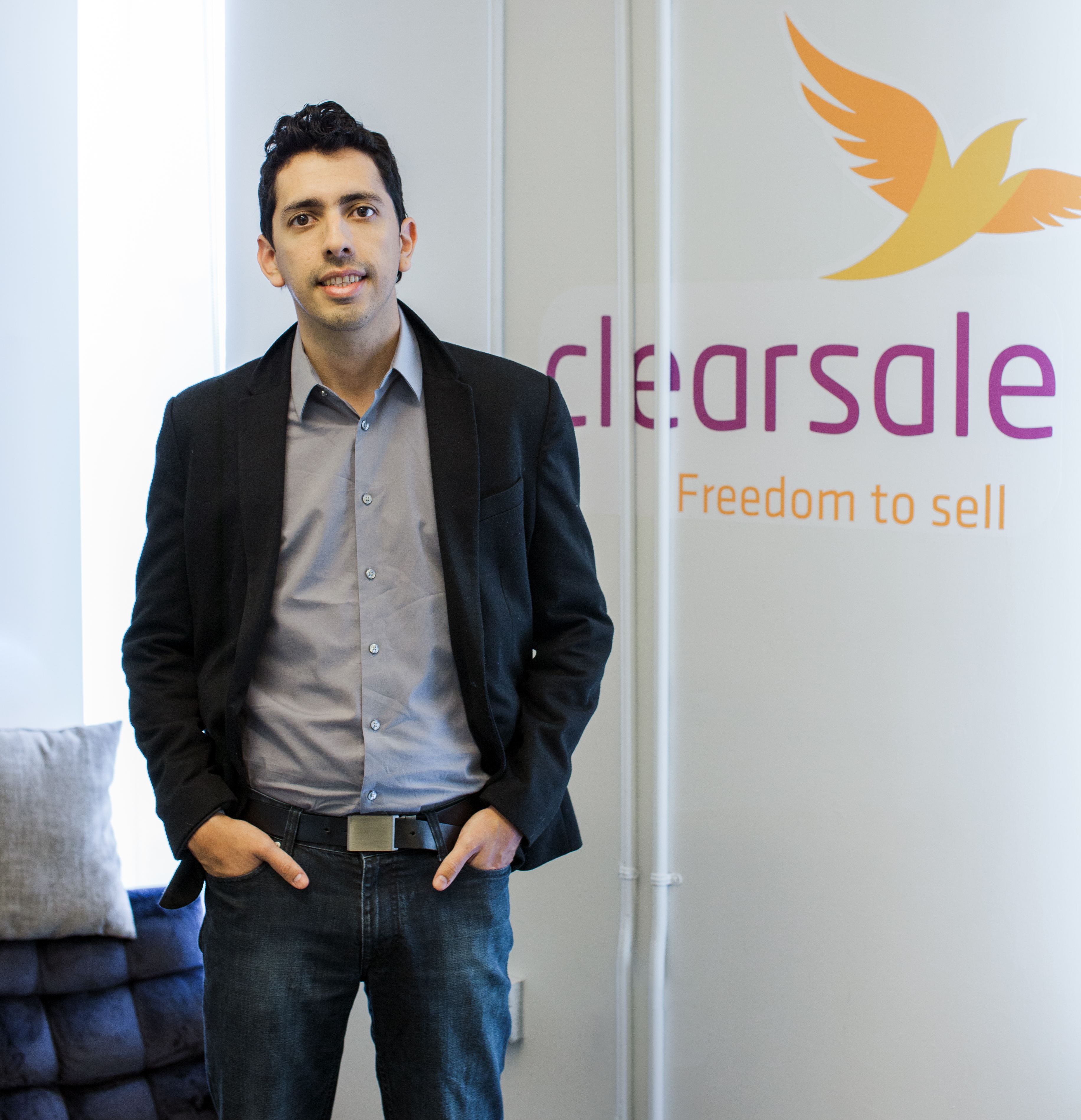 Clearsale CEO Rafael in jeans and sports jacket