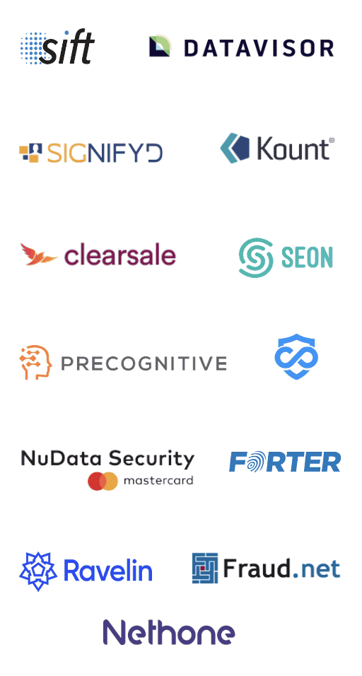 fraud trends report logos